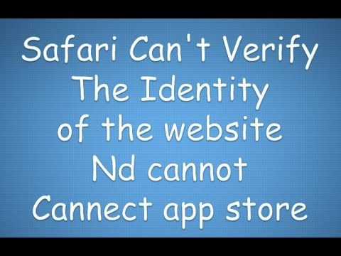 safari can't verify the identity of the website 2017