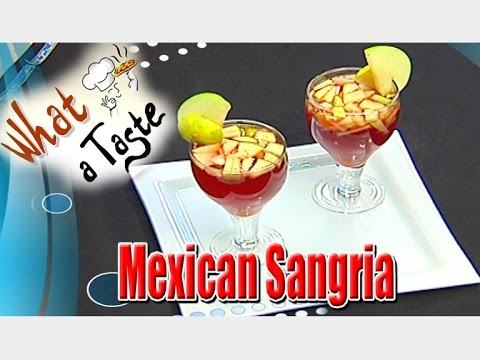 Mexican Sangria Recipe - Non-Alcoholic Mexican Drink || What A Taste || Vanitha TV