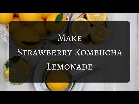 Easy Strawberry Kombucha Lemonade