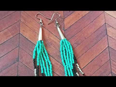 DIY Beaded Tassel Duster Earrings (Viewers Request) by Denise Mathew