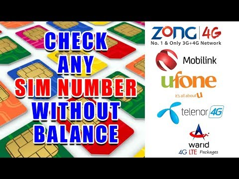 Check SIM Number Free, How To Check All Network Number