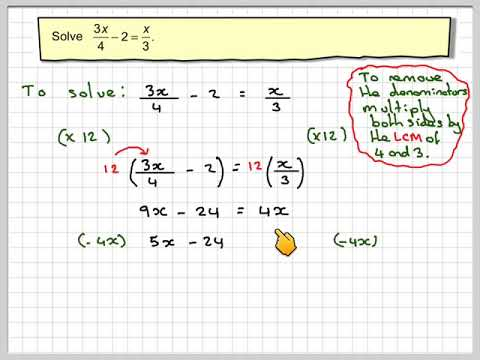 Solving equation with fractions 01