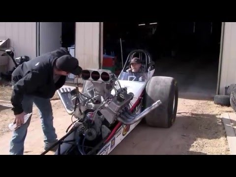 Front Engine Dragsters - Rob Rish Testing the Front Engine Dragster