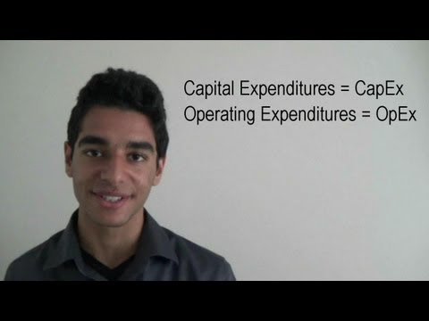 Capital Expenditures vs Operating Expenditures
