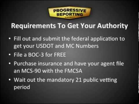 DOT Authority: How to Get Your MC Number and more