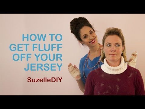 How to get Fluff off your Jersey