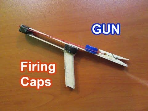 How to Make a Firing Cap Gun   Easy Tutorials