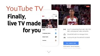 YouTube TV Launches Today