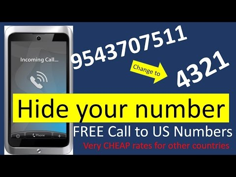 How to call a Phone  without showing number │ Easiest way to make International Phone calls