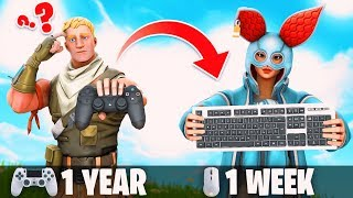 1 Week Progression From Ps4 To Pc (controller To Keyboard & Mouse) Fortnite Battle Royale