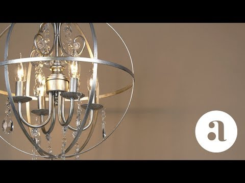 Luna 4 Light Silver Crystal Orb Chandelier Product Video | Amalfi Decor