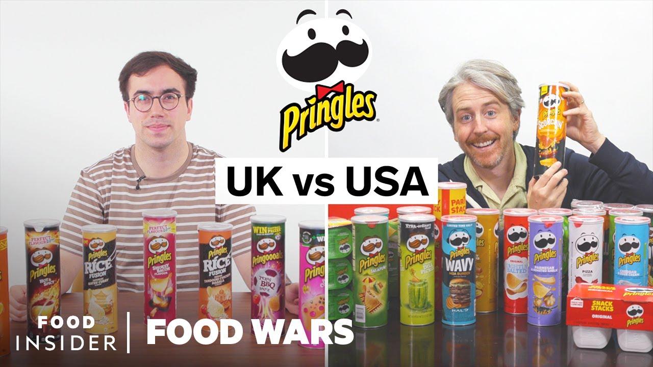 US vs UK Pringles Chips   Food Wars