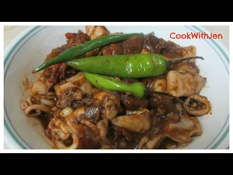 #07- STIR FRIED SQUID IN TOMATO SAUCE | Lutong Bahay