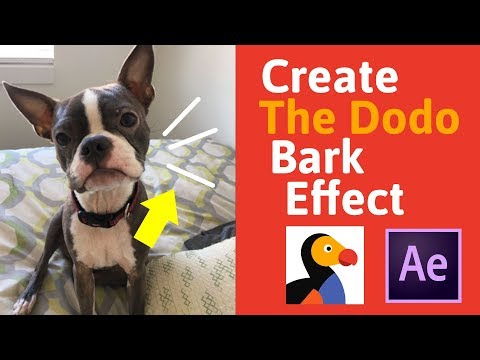 Recreate The Dodo Bark Effect - After Effects