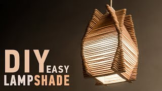 Easy DIY Ideas for Homedecor: Making Craft Stick Lampshade