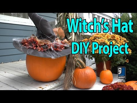 Witch's Hat DIY Halloween Decoration With Goodwill Home Decor Expert Merri Cvetan