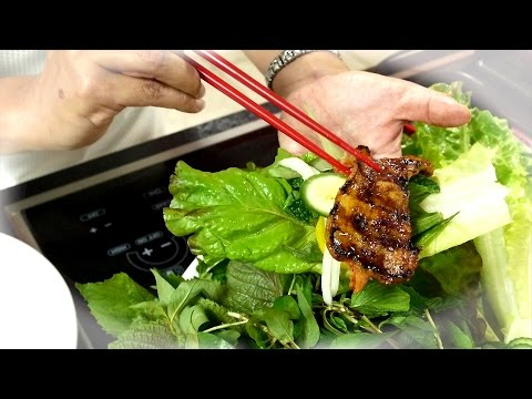 Korean-Viet Grilled Pork Belly Wrap /Thit Heo Nuong Vi (English sub)