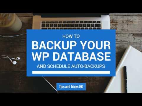 How to Backup the WordPress Database