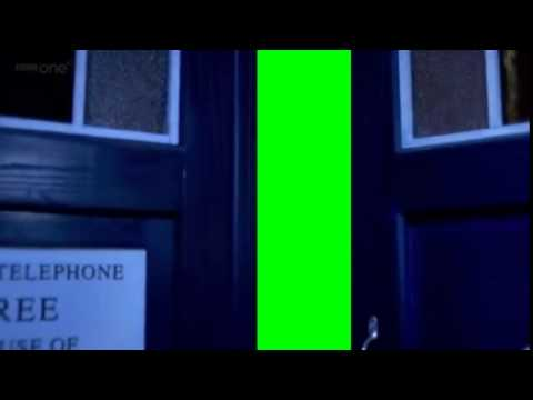 tardis doors open green screen (without rain)