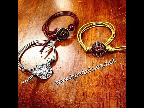 Leftover Cord and Button Bracelet DIY