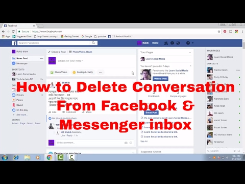 How to Delete Conversation From Facebook Message Inbox and Messenger Inbox FB Tips 57
