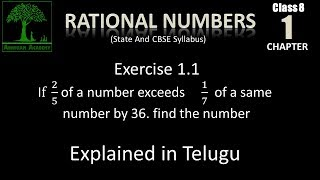 Class 8 Rational numbers State Cbse syllabus