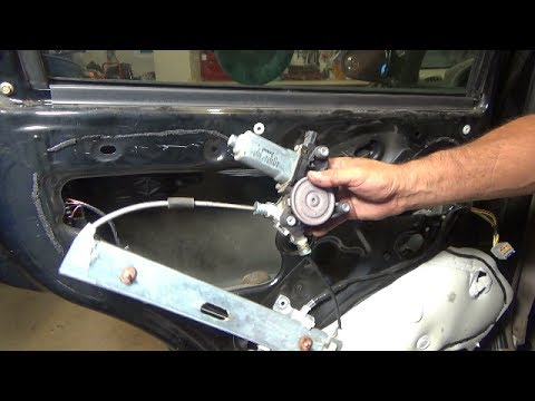 Rear door window motor replacement - going bad (2001-2007 Ford Escape)