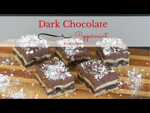 Nestle Dark Chocolate Peppermint Cookie Bars from How I Pinch A Penny {VIDEO}