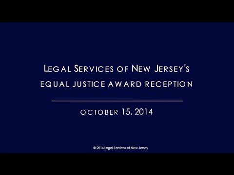 Legal Services of New Jersey's Equal Justice Award Reception 2014