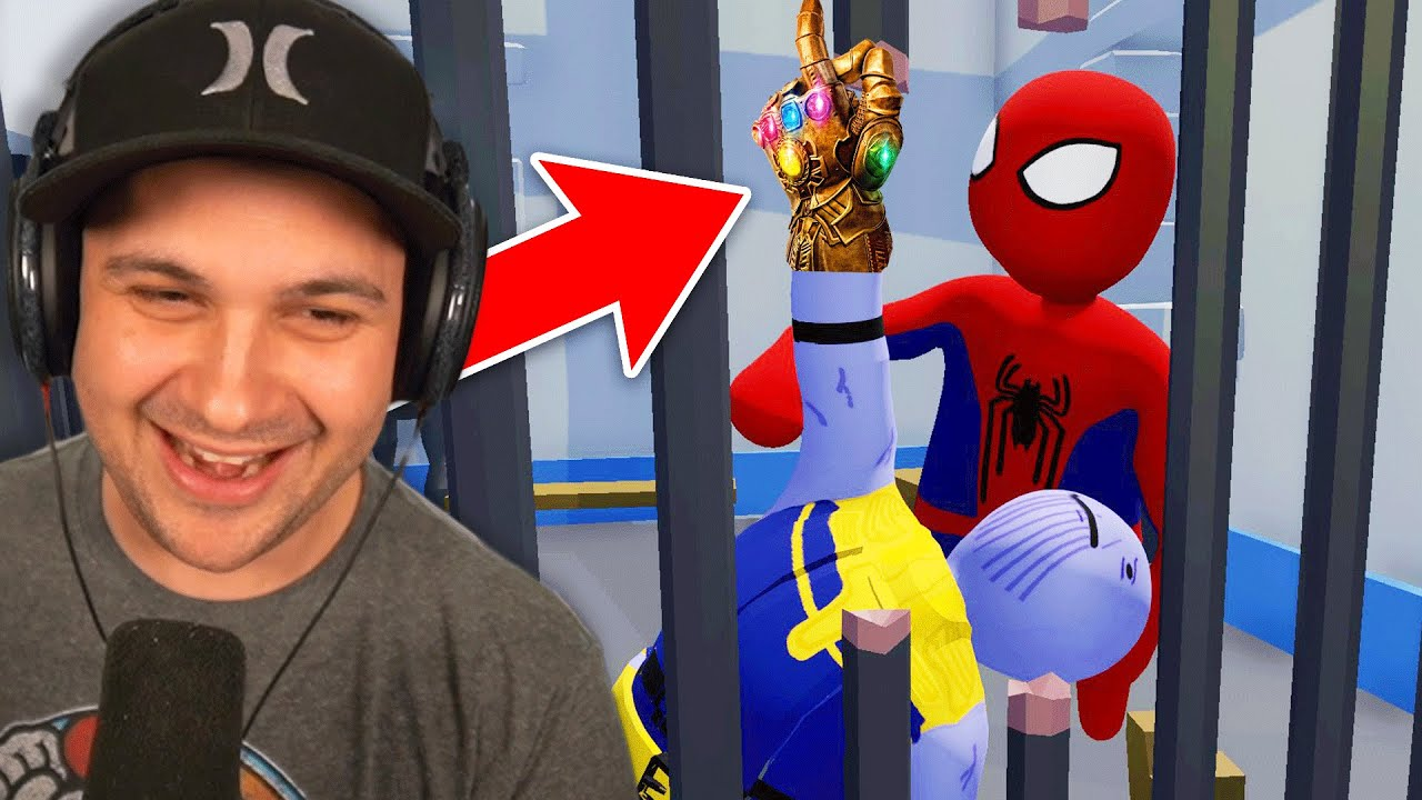 Can Spider-Man and Thanos ESCAPE PRISON!? | Human Fall Flat