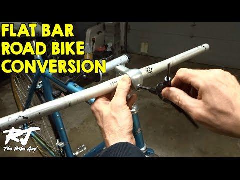 Road Bike Drop Bars To Flat Bar Conversion