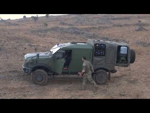 Plasan SandCat STORMER Spike NLOS Missile Launch System
