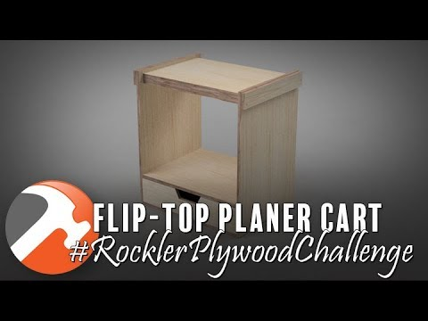 Flip-Top Planer Cart from One Sheet of Plywood
