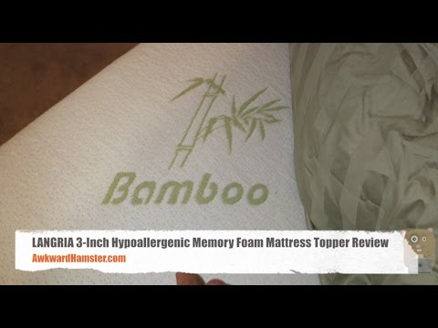 LANGRIA 3 Inch Hypoallergenic Memory Foam Mattress Topper Review