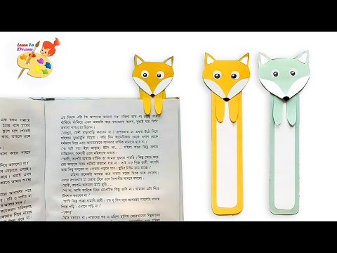 How to make paper bookmarks step by step /Easy craft