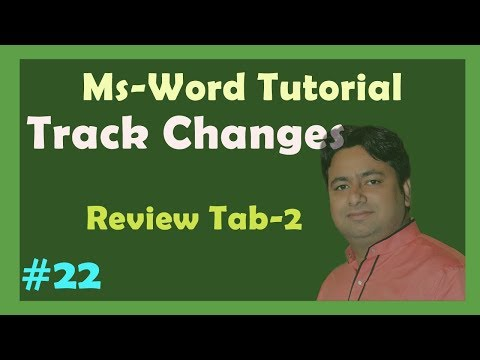 Day-22 Track changes in Ms word - Step by Step tutorial in Hindi by Manoj sir