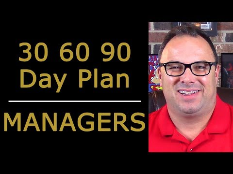 30 60 90 Day Plan for New Managers