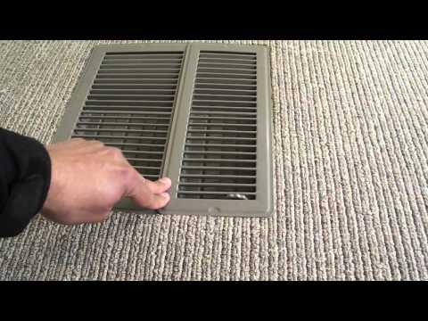 Poorly installed floor registers, Robbinsdale, MN.