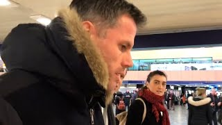 Jamie Carragher Arrives In London For MNF, Offers Apology Over Spitting Incident - Sky Suspends Him