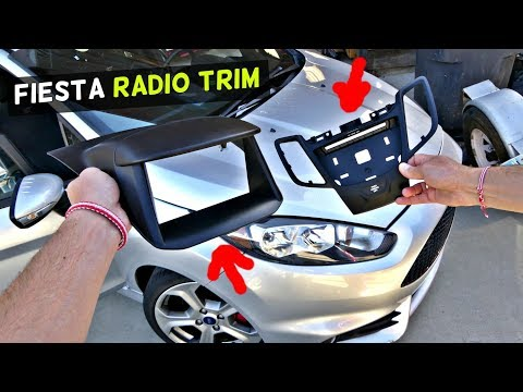 FORD FIESTA RADIO TRIM REMOVAL REPLACEMENT MK7 ST