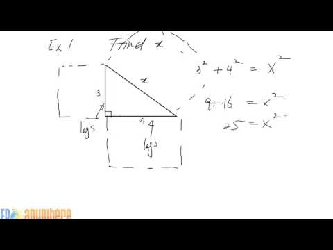 Pythagorean Theorem, given Right Triangle, find Missing Side
