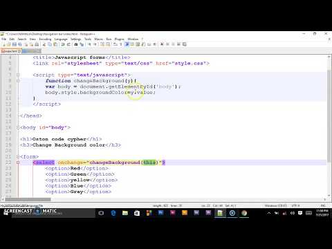 Javascript: Handling the SELECT onchange event (Drop Down)
