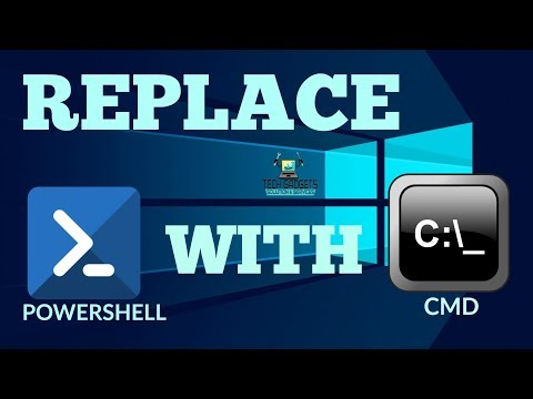 How to replace Powershell with CMD in Windows 10