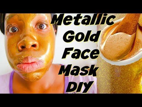 Metallic Gold BLACKhead Peel Off Mask DIY! Blackhead Peel off Face Mask