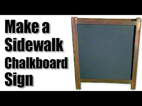 IKEA Hack- Make a Sidewalk Chalkboard Sign