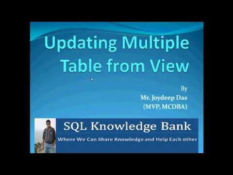 Update Multiple Table by View