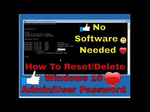 How To Reset/Bypass  Admin Password In Windows 10