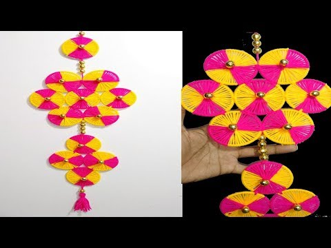 DIY wall hanging using woolen and old bangles | Best Out of Waste | Home Decore craft ideas easy