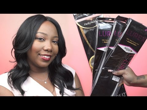 Next Best Thing to VIRGIN HAIR | Zury Lurex 100% Remy Human Hair and Hollywood Silktop Closure