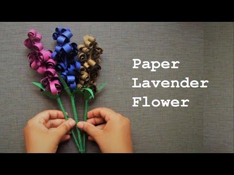 How to make decorative Lavender spiral paper flower I DIY easy paper flower crafts